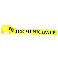 """Rubalise gel des lieux  """"POLICE MUNICIPALE""""  7.5 cm  x 100 m - l'unité"""