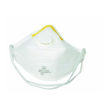 Demi-masque de protection FFP1 avec soupape et pliable - 20 pièces