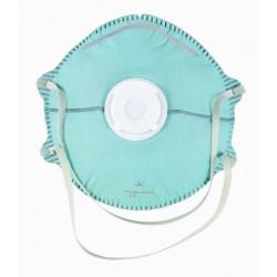 Demi masque pliable horizontal FFP2 avec soupape - 20 pièces