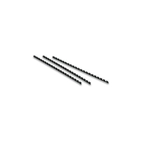 Reliure plastique noire 06 mm - lot de 100