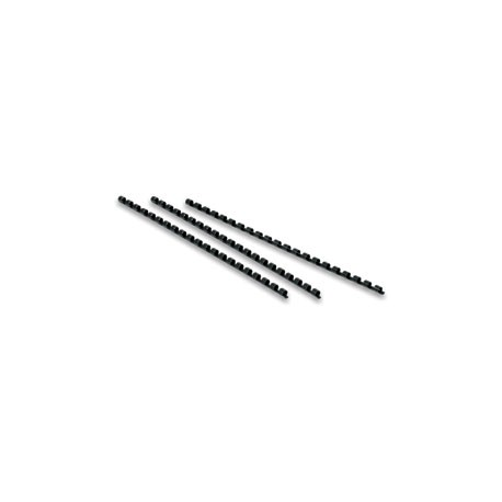 Reliure plastique noir 13 mm - lot de 100