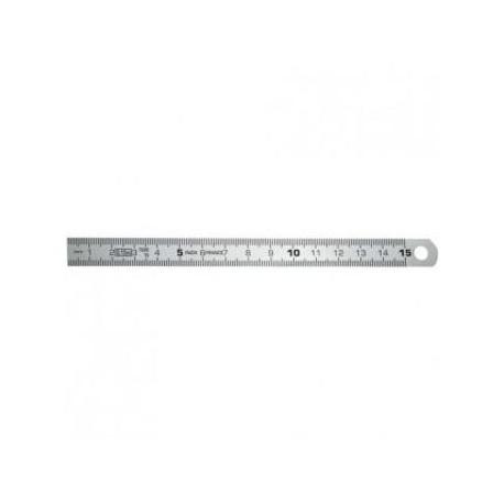 Réglet flexible acier inox 15 cm - l'unité