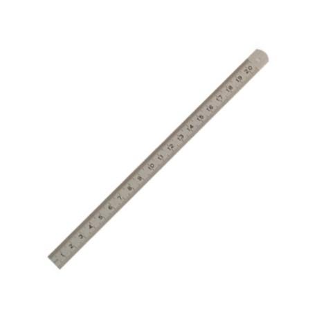 Réglet flexible acier inox 20 cm - l'unité