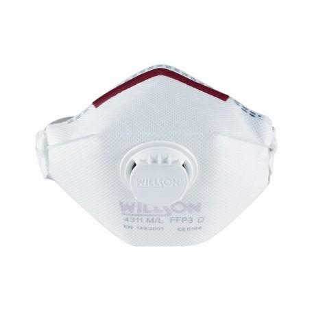 Demi-masque pliable FFP3 à usage unique de classe - 10 pièces