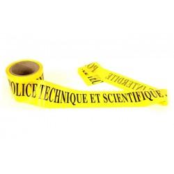 """Rubalise """"Police Technique et Scientifique - Zone interdite""""- 7.5 x 100 m - l'unité"""