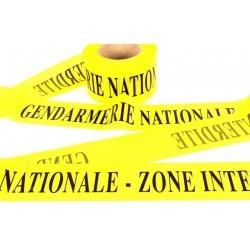 """Rubalise """"GENDARMERIE NATIONALE - ZONE INTERDITE"""" 7.5 cm x 100 m - l'unité"""