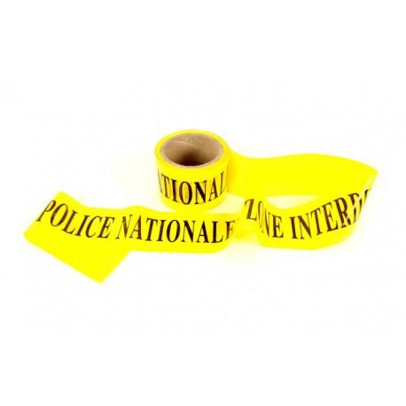 "Rubalise ""Police Nationale - Zone interdite"" 7.5 cm x 100 m - l'unité"