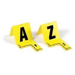 Lot de marquage: Cavaliers jaunes avec equerre millimétrée de A à Z - le lot