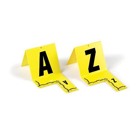Lot de marquage - cavaliers jaunes avec equerre millimétrée de A à Z