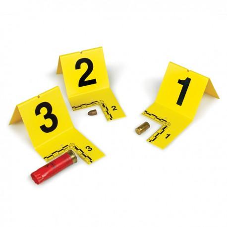 Lot de marquage cavaliers jaunes avec équerre millimétrée numérotées