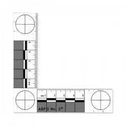 Equerre en plastique pour mesure photographique 10.5 x 10.5 cm - l'unité