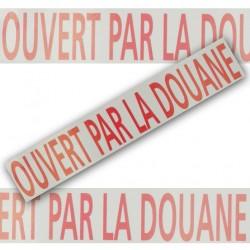 """Adhésif """"OUVERT PAR LA DOUANE"""" - 5 cm x 100 m - l'unité"""