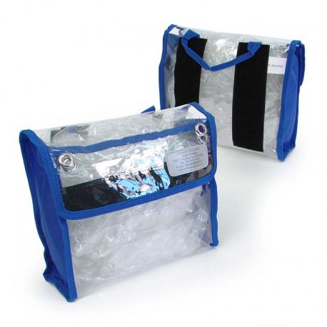 Pochette transparente - Dimatex - Moyenne- Bleu - l'unité