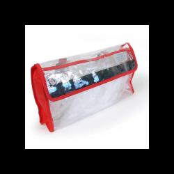Grande Pochette transparente Dimatex - Rouge - l'unité