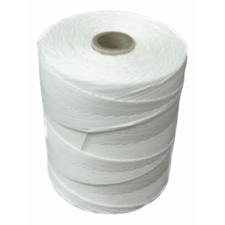 Ficelle polyester blanche 4 fils - rolls de 1 kg