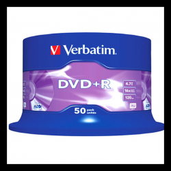 DVD+R 16X 4.7 Go en spindle de 50