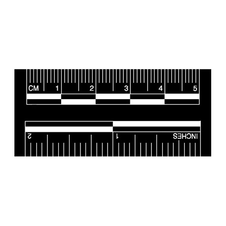 Réglets adhésifs fond noir/numéros blancs 50 mm - lot de 50