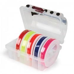 Kit ficelle Elastique pour trajectoire de balle - rouge + vert + bleu + rose + orange