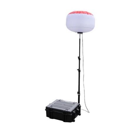 Sirocco 2S TBT 48 v LED secours - pack complet (mallette de transport + ballon 60 w + mât + chargeur + batterie + télécommande)