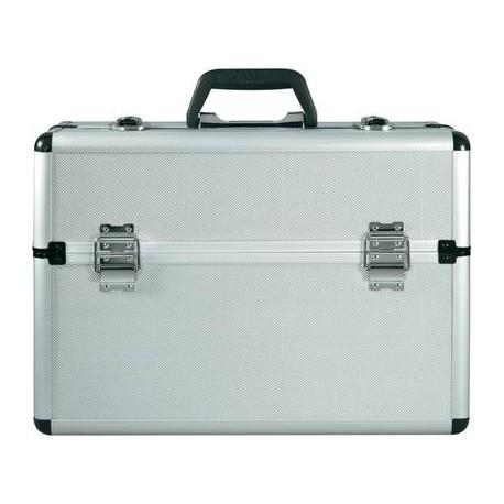 Mallette aluminium compartimentée 45 x 22,5 x 32 cm - l'unité