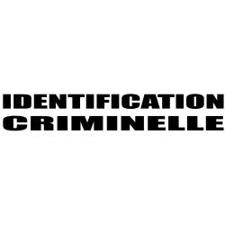 """Combinaison Partiguard floquée """"Identification Criminelle"""" avec cagoule - XL- l'unité"""