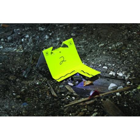 """Cavaliers avec équerre à """"usage unique"""" jaune/blanc - 100 pièces"""