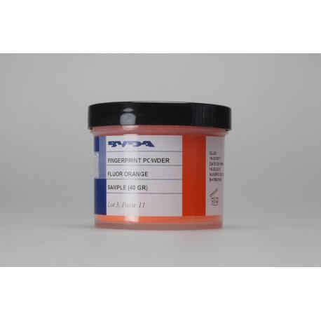 Poudre conventionnelle orange fluo - pot de 40 g
