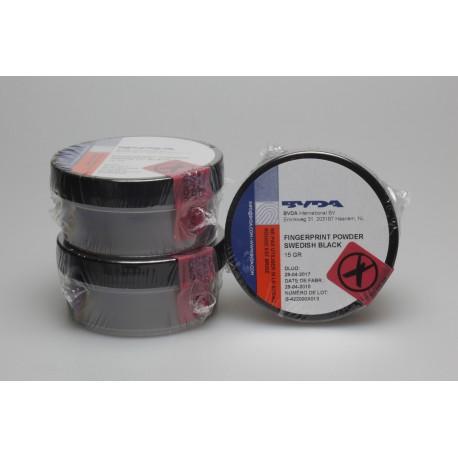Poudre conventionnelle noire jetable - pot de 15g
