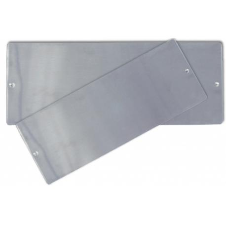 Plaque à encrer en inox pré trouée - 10,2 x 25,4 cm - l'unité