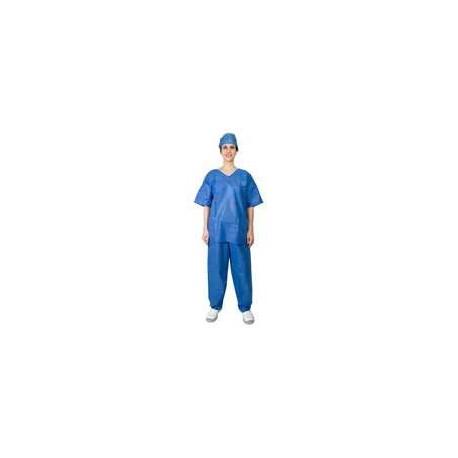 Pyjama de bloc opératoire jetable - lot de 5