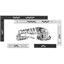 Pack équerrre + réglet réversible noir/blanc - le lot