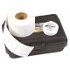 Tampon encreur céramique Ø 3.80 cm + étiquettes I.D. Print® (encre Incolore) - kit 500 empreintes