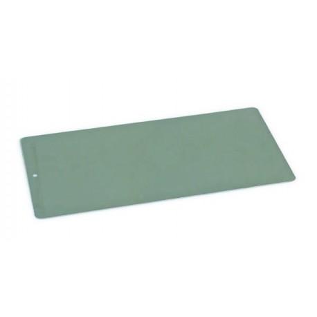 Plaque à encrer en acier pré trouée - 12,5 x 25 cm - l'unité