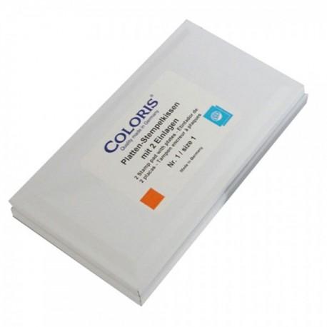 Tampon encreur 118 x 67mm + recharge encre - le lot (encre spéciale sachet plastique)