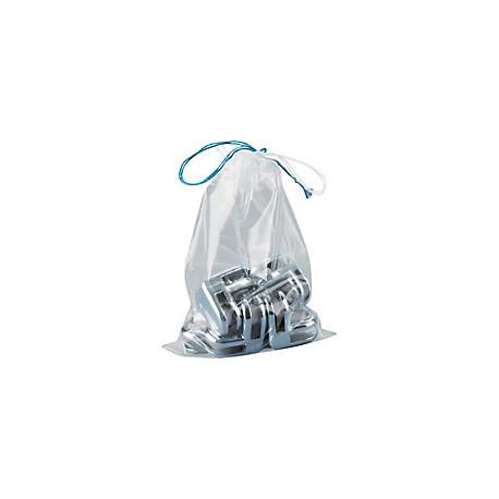 Sachet plastique à cordonnets pour scellé - lot de 100