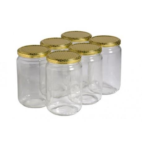 Pot grande ouverture pour prélèvements 750 ml - lot de 12