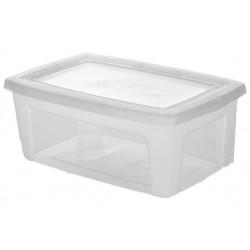 Boite plastique transparente avec couvercle 11 Litres - l'unité