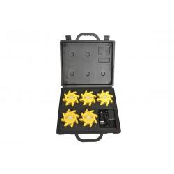 Lumière d'urgence séquentielle NightSearcher Pulsar-pro rechargeable - valisette de 5 unités