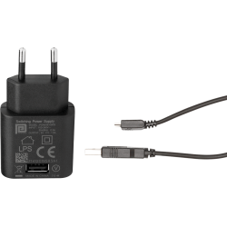 Chargeur USB 5V sur prise secteur avec câble - l'unité
