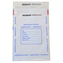 Sachets scellés sécurisés administrations pénitentiaires - 210 x 305 + 30 mm - lot de 50