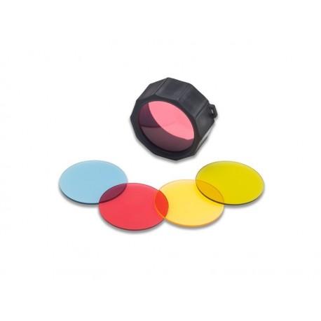 Filtres couleurs pour SupraBeam® Q7defend (bleu, rouge, jaune, vert) - le lot