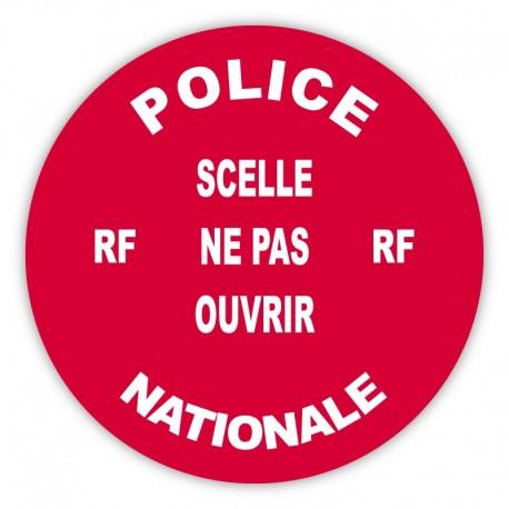 Pastille adhésive rouge sécurisée Police Nationale - lot de 100