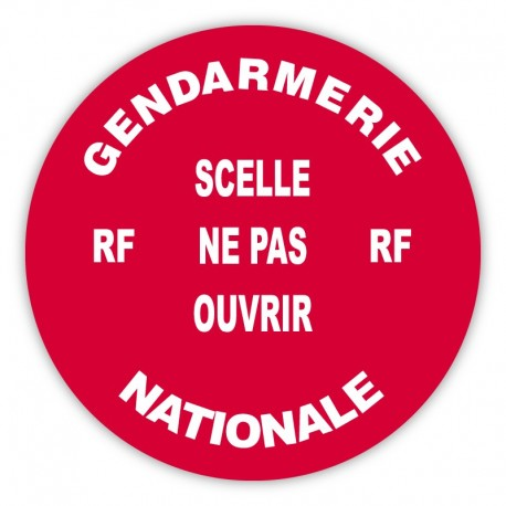 Pastille adhésive rouge sécurisée Gendarmerie Nationale - lot de 100