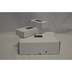Boîte cartonnée à sceller - Avec fenêtre - Lot de 20