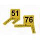 Lot de Marquage : Cavalier avec équerre millimétrée jaune numéroté de 51 à 100