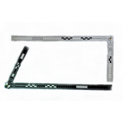 Equerre pliable de 45 cm x 18 cm - reversible noir / blanc - l unité