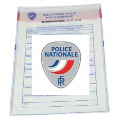 Sachets scellés sécurisés Police Nationale - lot de 50
