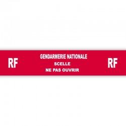 Adhésif rouge sécurisé Gendarmerie Nationale - 35 mm x 20 m - l'unité