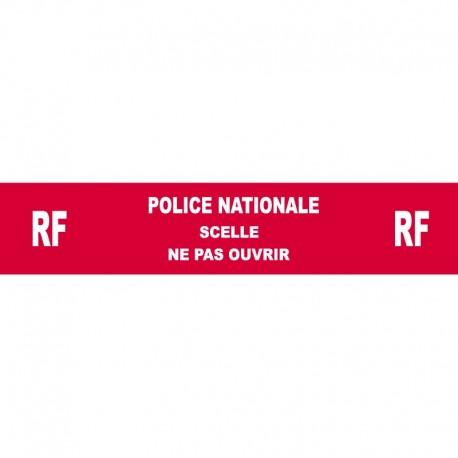 Adhésif rouge sécurisé Police Nationale - 35 mm x 20 m - l'unité
