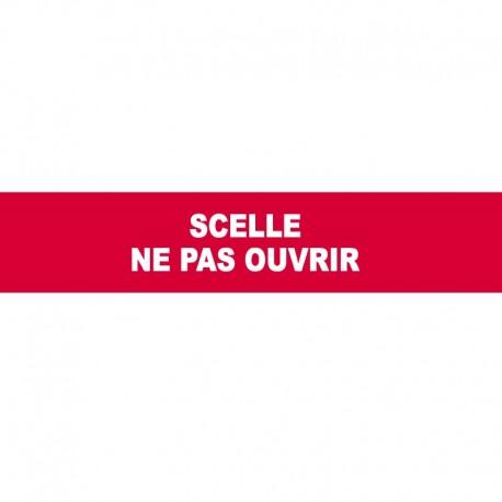 """Adhésif rouge sécurisé en rouleau 35 mm x 20 m """"SCELLE NE PAS OUVRIR"""" - l'unité"""
